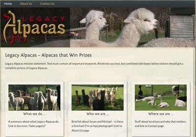 Legacy Alpacas Website