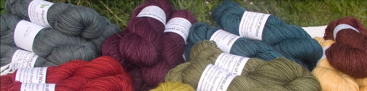 Alpacas of Wales Suri & Baby Alpaca sport weight yarn. hand dyed by Triskelion Yarn